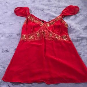 Red going out top/blouse